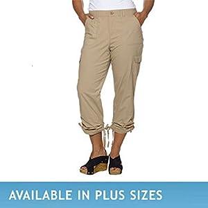Gloria Vanderbilt Ladies' Zoey Cropped Cargo Pant-tan, 6
