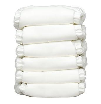 6/pi/èces Blanc Charlie Banana hybride tout-en-un couches avec 12/inserts r/éutilisables taille 1