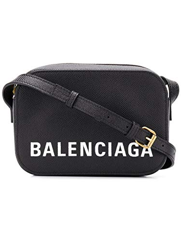 (Balenciaga Women's 5581710Otdm1000 Black Leather Shoulder)