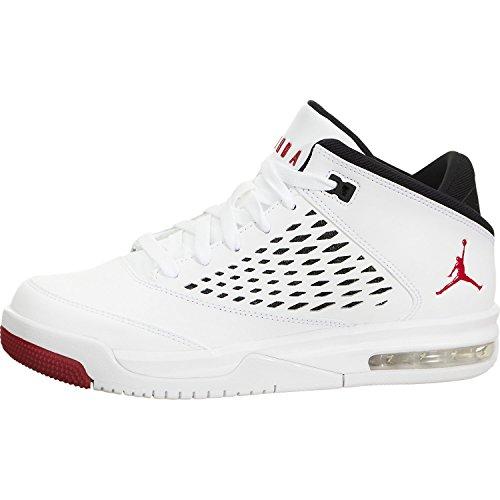 Jordan Flight Origin 4 White/Gym Red-Black (Big Kid) (4.5 Big Kid - Red 4 Jordan