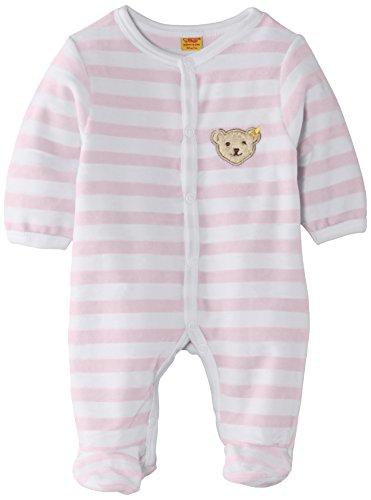Steiff Unisex - Baby Strampler, gestreift Classics Nicky 0002848, Gr. 62, Rosa (barely pink)