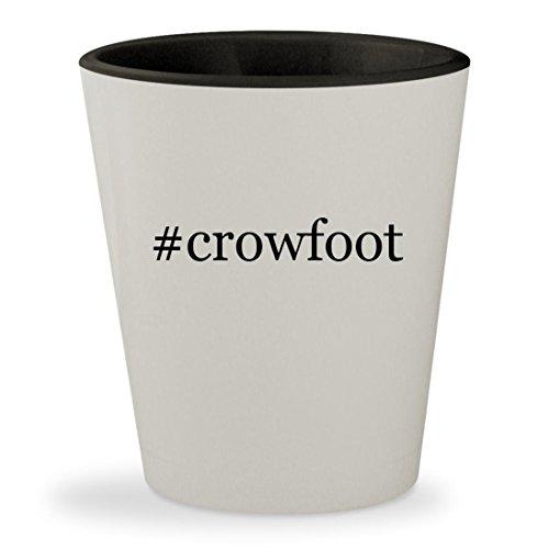 #crowfoot - Hashtag White Outer & Black Inner Ceramic 1.5oz Shot Glass