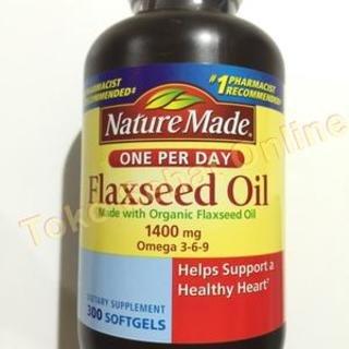300 Softgels (Nature Made Organic Flaxseed Oil 1400 mg 700mg Omega 3, 300 Softgels)