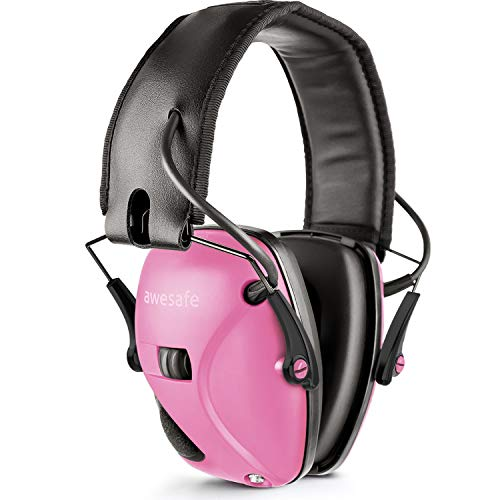 Awesafe Electronic Shooting Earmuff, Noise Reduction Sound Amplification Electronic Safety Ear Muffs, Ear Protection, NRR 22 dB, Ideal for Shooting and Hunting, Pink ... ...