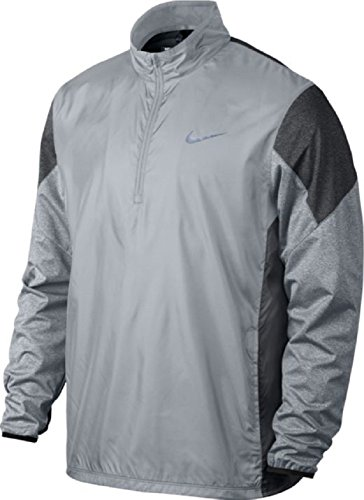Nike 1/2 Zip Shield Top Golf Pullover 2016 Wolf Grey/Charcoal Heather/Wolf Grey/Reflect Black X-Large
