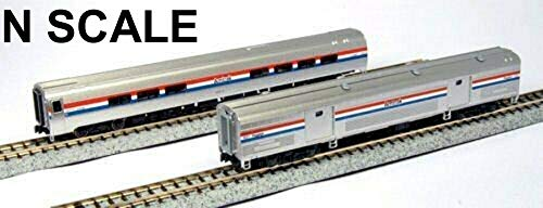 Kato USA Model Train Products Amfleet II Phase III Car Set B, Set of 2 ()