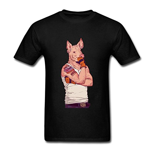 Price comparison product image Tangry Men's Animal anthropomorphic Design Cotton Short Sleeve T Shirt