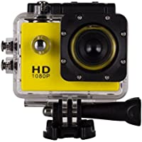 Boyiya 1080P HD Mini Waterproof Sports Recorder Car DV Action Camera Camcorder (Yellow)