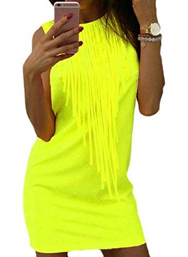 Alla Pattern1 Cocktail Girocollo Nappa Senza Dress Breve donne Di Colore Moda Puro Coolred Maniche 5xPFwAO