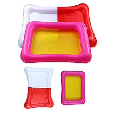 Aland Kids Indoor PVC Inflatable Castle Sand Box Sandbox Tray Table Fun Play Toys Small Random Color: Home & Kitchen