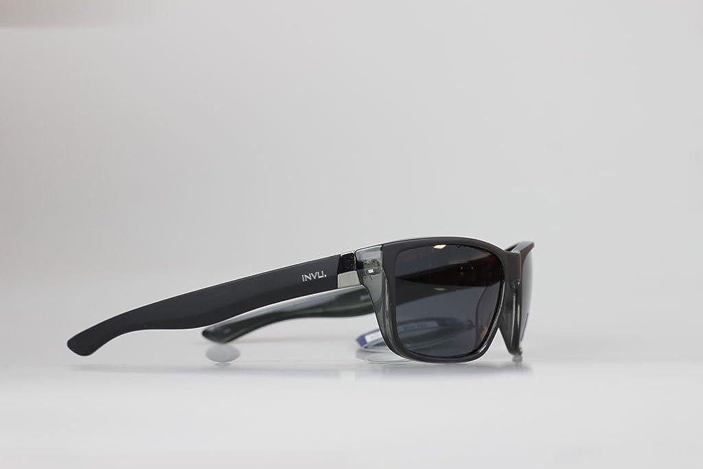 INVU Gafas de sol polarizadas t2404 C negro/gris mate goma lente ...
