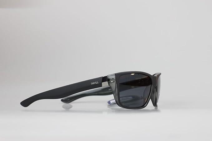 INVU Gafas de sol polarizadas t2404 C negro/gris mate goma lente gris 100%