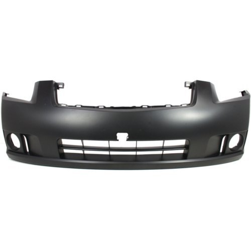Front Bumper Cover Compatible with NISSAN SENTRA 2007-2009 Primed 2.0L. Engine with Fog Light Holes