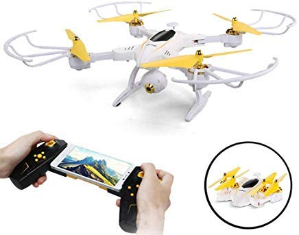 Rc Videos Helicopter - SZJJX RC Drone with 720P HD Camera FPV Live Video Remote Control Quadcopter 2.4Ghz RC Helicopter with Altitude Hold Headless Mode 3D Flips One Key Take-Off/Landing