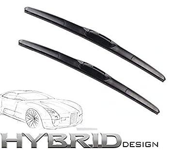 500/450 Hybrid 2 x Limpiaparabrisas frontal, Juego de escobillas para parabrisas con ganchos
