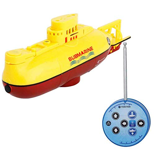 Egoelife 6 Channel 27MHz Mini RC Submarine Toy Ship Electric Underwater Submarine for Kids Gift (Yellow)