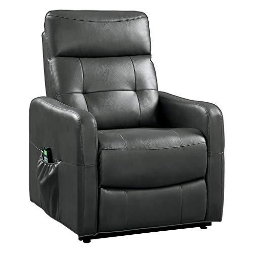 Homelegance 9860 Power Lift Recliner with Massage & Heat, -