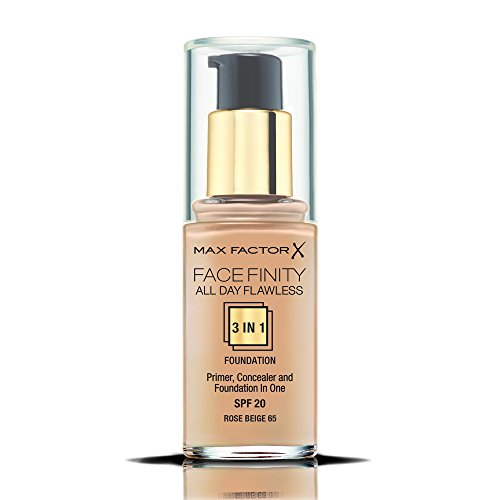 Max Factor Facefinity All Day Flawless 3 In 1 Foundation SPF 20, No. 65 Rose Beige