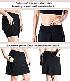 "Yogipace Women's 4 Pockets UV Protection 17"" Long"
