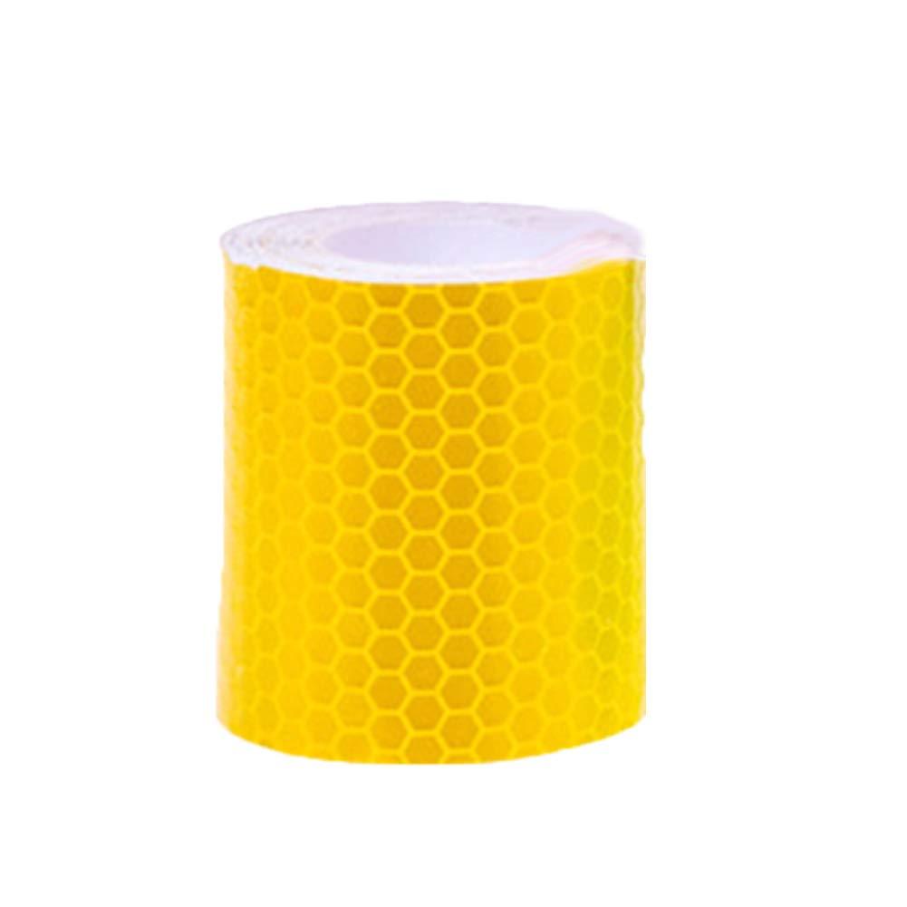 Kalaokei Reflective Warning Tape,3m Safe Car Styling Reflective Warning Tape Self Adhesive Conspicuity Sticker Golden