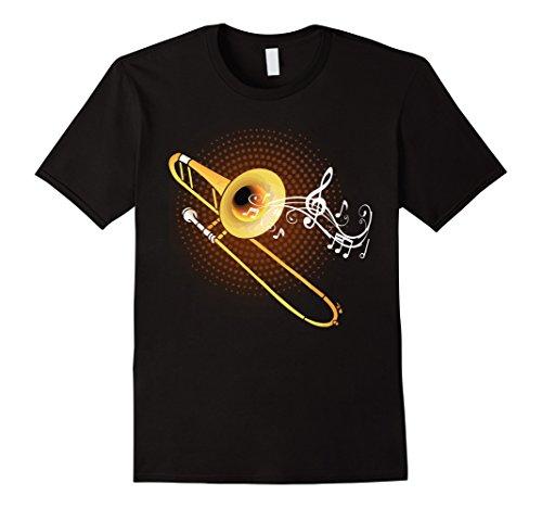 Trombone Marching Band - Mens Trombone Shirt Trombone Music Tee Trombonist Marching Band Medium Black