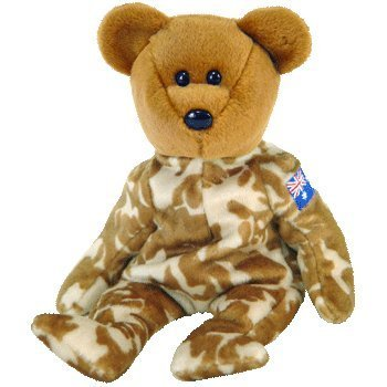 - TY Beanie Baby - HERO the Military Bear (Australia Exclusive Version)