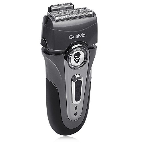 Geemo Electric Shaver Razor Men's Foil Shaver Rechargeable Waterproof Beard Trimmer, Silver