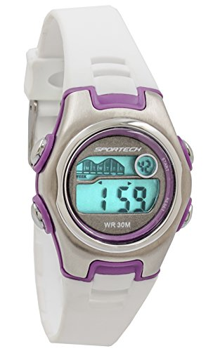 Sportech Unisex | Purple & White Racer Digital Sport Watch | SP10205 by Sportech