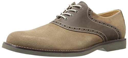 G.H. Bass & Co. Men's Parker Oxford, Taupe/Chocolate, 7.5 M US