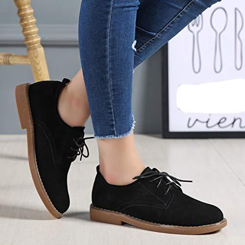 Bassa Stringate Jiangfu Basse scarpe Quadrato Tinta Lavaro Donna vqHxnATH