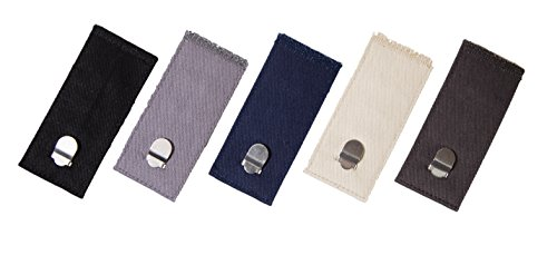 Comfy Clothiers - Hook & Clasp Waist Extenders for Pants, Shorts, and Skirts (5-Pack)
