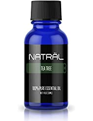 NATRÄL Tea Tree, 100% Pure and Natural Essential Oil, Large 1 Ounce Bottle