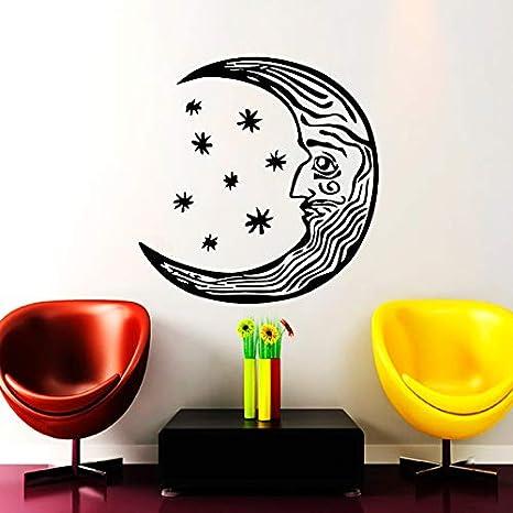 42x42 cm Luna Media Luna Tatuajes de Pared Estilo Étnico Vinilo ...