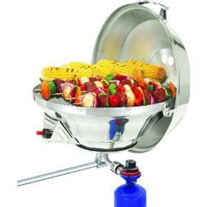 (Magma Products, A10-217 Marine Kettle 2 Combination Stove and Gas Grill, Party Size)