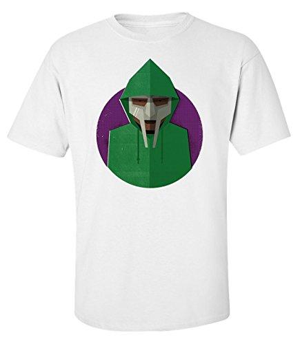 Mf doom mask hoodie dope rap hip hop logo t-shirt herren baumwoll weiss