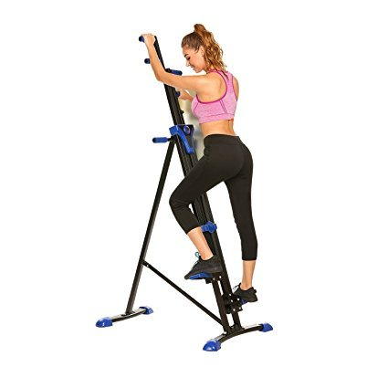 Sholdnut Foldable Vertical Climber Stepper 2 In 1 Exercise Fitness Cardio Workout Climbing Machine Stair, US Stock by sholdnut