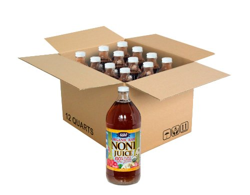 Organic Hawaiian Noni Juice - 1 Full Case of 12 Bottles 32 Ounce Glass Bottles by Healing Noni