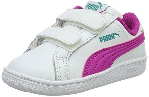 Puma Unisex-Kinder Smash Fun L V Inf Low-Top Weiß (puma white-ultra magenta 11)