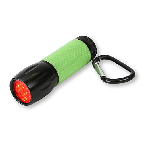 Carson RedSight Red LED Flashlight For Reading Astronomy Star Maps and Preserving Night Vision with Two Brightness Settings (SL-33)
