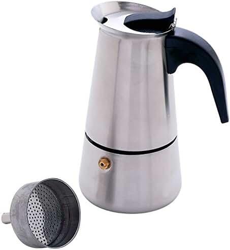 Chef KTESPMKR Heavy-Gauge Stainless Steel Espresso Maker, 4 Cup