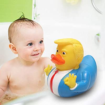 AGAWA PVC Donald Trump Rubber Duck Cartoon Swimming Pool Party Donald Trump Rubber Small Duck Toy Party Gift: Toys & Games