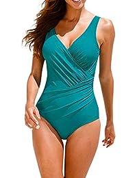 3efa01b5c816 Fashion Womens Jumpsuit Split Polka Dot Monokini Solid Color Sexy One-Piece  Swimsuit Romper