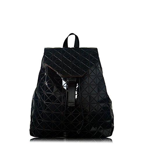 Bolso De Hombro Moda Niños Negro Plata Chica Láser Bolso De Hombro Moda Desenfadado Lingge Big Bag SilverDrawstring