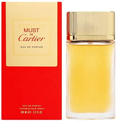 Must de Cartier Gold by Cartier for Women 3.3 oz Eau de Parfum Spray