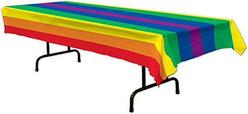 "New Rainbow Pride Table Cover Party Decoration 54"" x 108"""