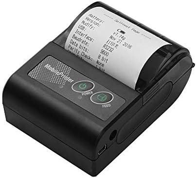 Thermo-Barcodedrucker, tragbarer drahtloser BT-58-mm-Thermobondrucker Mini Personal Bill Mobiler Drucker Kompatibel mit ESC/POS-Druckbefehlen für iOS Android Windows