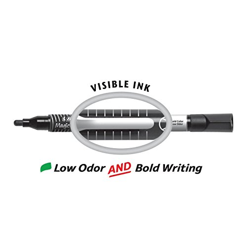 BIC Low Odor & Bold Writing Pen Style Dry Erase Marker, Bullet Tip, Assorted (3 Pack) by BIC (Image #2)