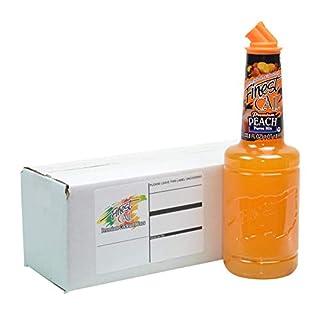 Finest Call Premium Peach Fruit Puree Drink Mix, 1 Liter Bottle (33.8 Fl Oz)