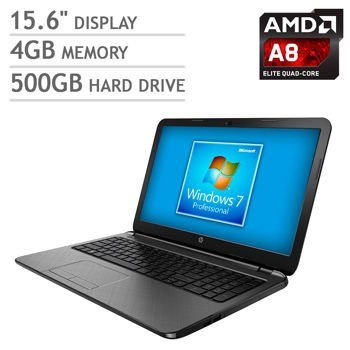 HP 15.6 Inch Laptop (Quad-Core AMD A8-6410 up to 2.4GHz Processor, 4GB (Original Series Window Graphics)