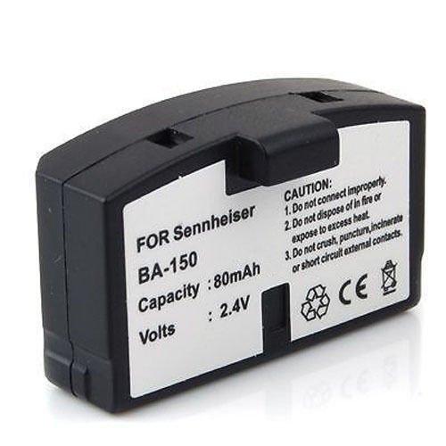 Extended 80mAh Rechargeable BA 150, BA 151, BA 152 Battery for Sennheiser A 200, HDI 302, HDR 4, HDR 4-9, HDR 45, HDR 60, HDR 65, HDR 80, HDR 85, HDR 400, IS 150, IS 300, IS 380, RA 85, RI 150, RI 250, RI 250J, RI 250S, RI 810, RI 810 S, RS 4, RS 6, RS 8,